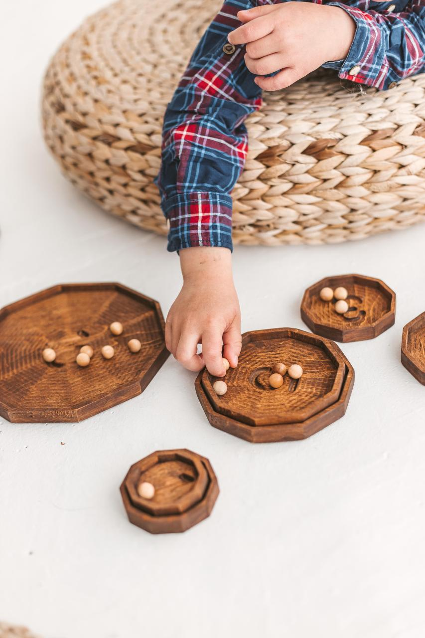 10 sorting and counting plates by Woodinout wooden toys