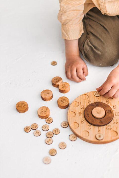 Wooden Math cirlce by Woodinout Montessori Math toys