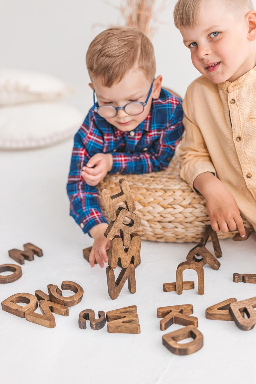 Wooden letters by Woodinout learning toys