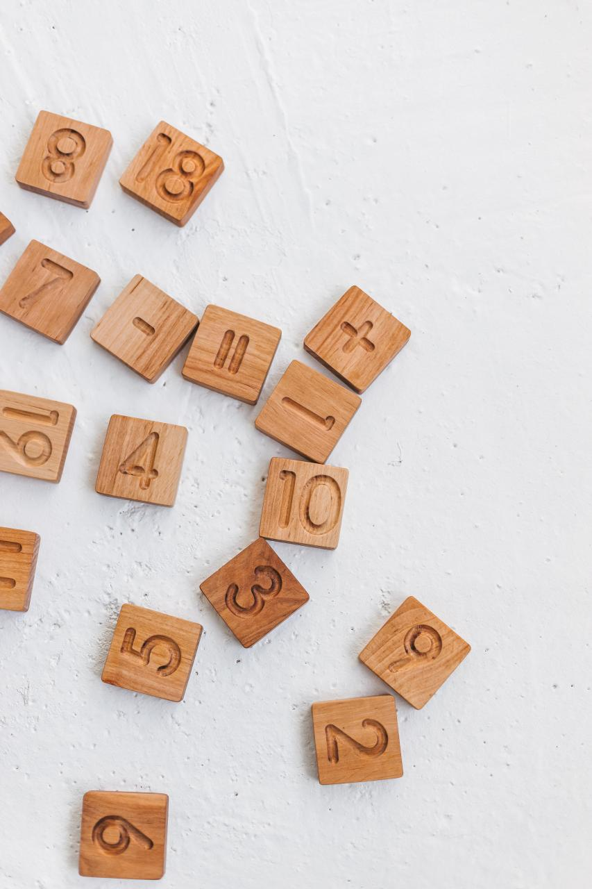 Wooden number blocks by Woodinout , Wooden Montessori toys shop