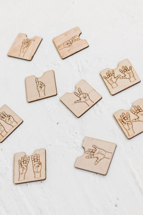 Fingers - Wooden number blocks by Woodinout , Wooden Montessori toys shop